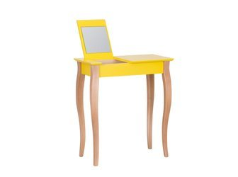 LILLO Dressing Table with Mirror - 65x35cm Yellow