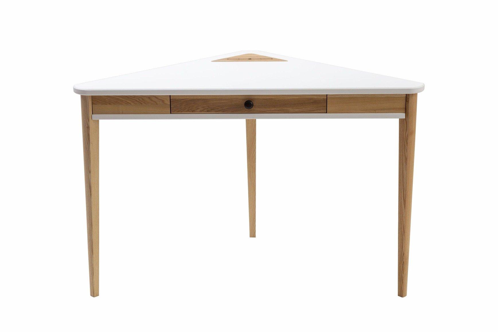 Ashme Corner Desk 114x85x85cm White Ragaba Pl