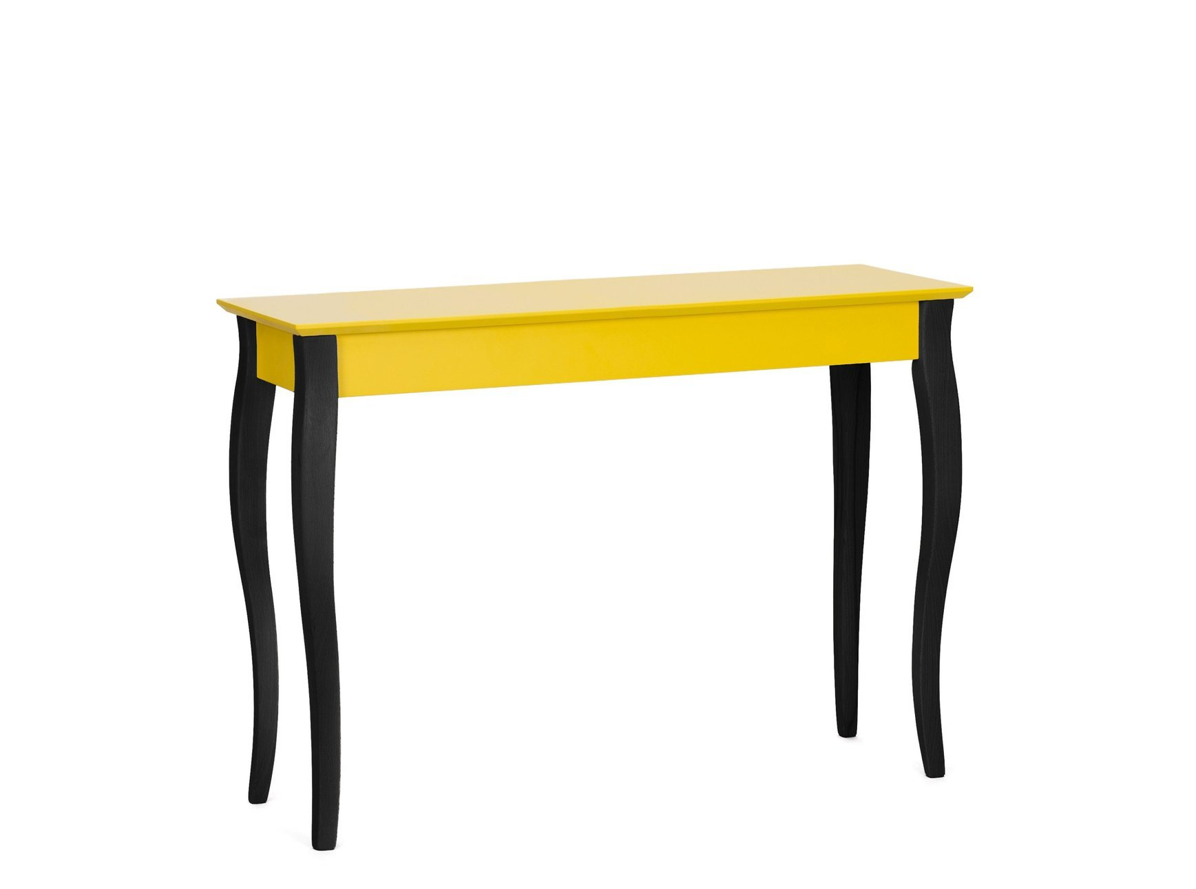 Lillo Large Writing Desk Yellow Black Legs