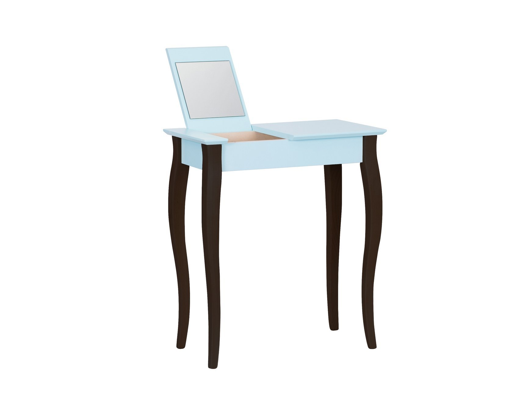 Lillo Small Dressing Table With Mirror Light Turquoise Black Legs