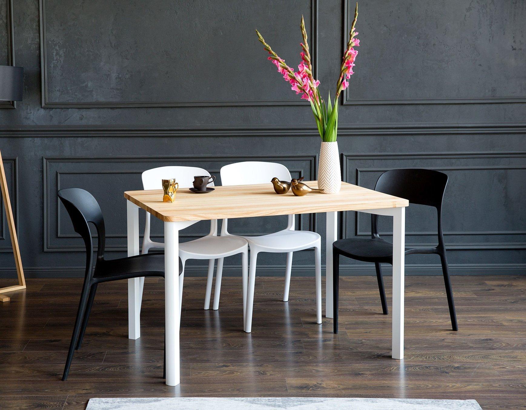 Sensational Triventi Ashwood Dining Table 120X80Cm White Round Legs Download Free Architecture Designs Rallybritishbridgeorg