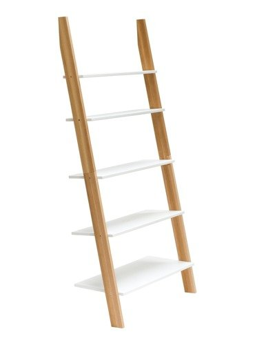 ASHME Ladder Shelf 85x35x180cm - White