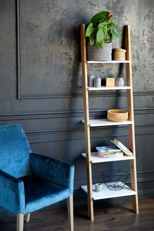 ASHME small Ladder Shelf - light grey