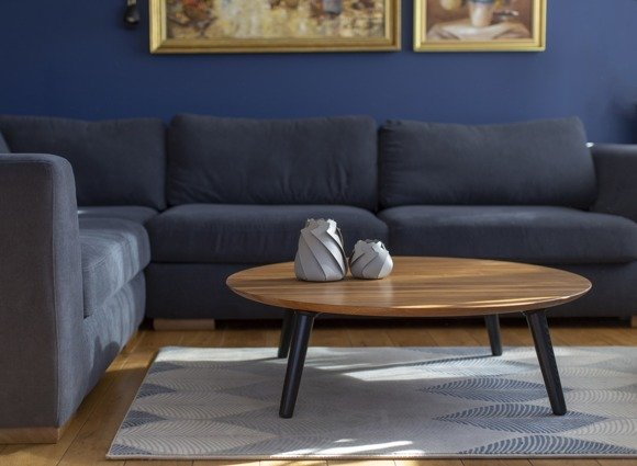 Contrast SLICE Coffee Table 100x31cm - Black Legs