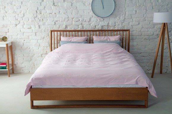 DIAMOND Wooden Bed - Oak 160x200