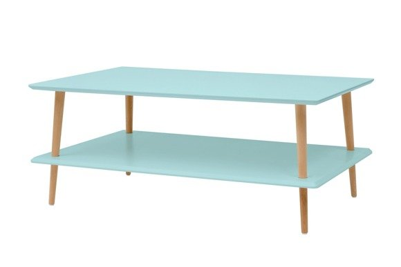 KORO low Coffee Table - light turquoise