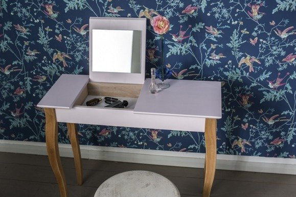 LILLO Dressing Table with Mirror - White