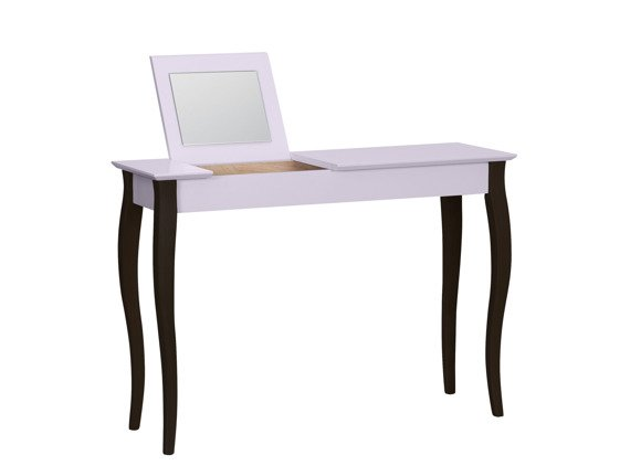 LILLO large Dressing Table with Mirror - dusky pink/black legs