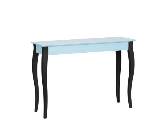 LILLO large Dressing Table with Mirror  - light turquoise/black legs