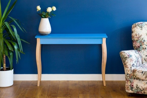 LILLO medium Console Table - light turquoise