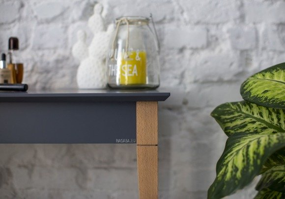 MIMO Console Table with Shelf - 105x35cm Yellow