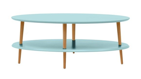 OVO low Coffee Table - light turquoise
