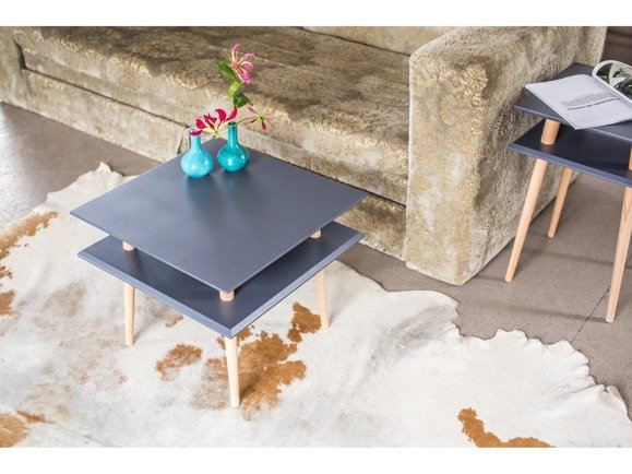 SQUARE Coffee Table 55x55x45cm - Light Turquoise