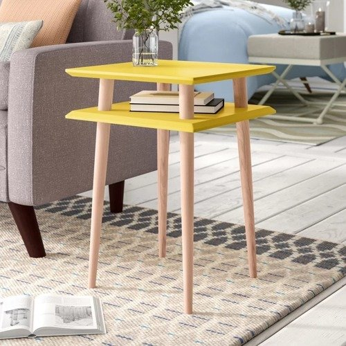 SQUARE high Coffee Table - yellow