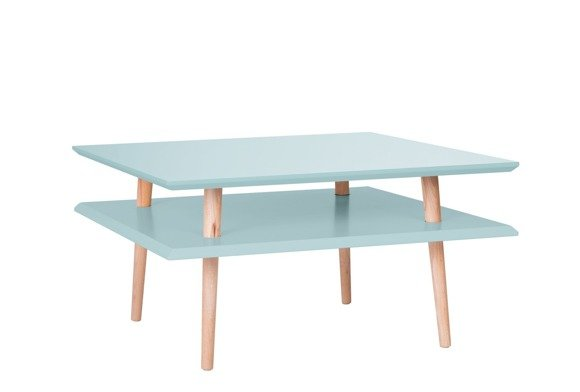 SQUARE low Coffee Table - light turquoise