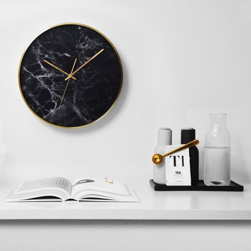 Structure Wall Clock - Black Marble