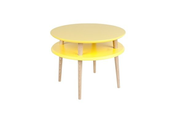 UFO Side Table diam. 57cm x H 45cm - Yellow
