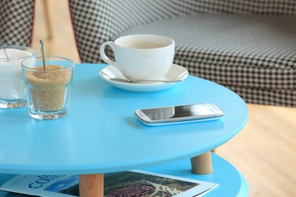 UFO low Coffee Table - light turquoise