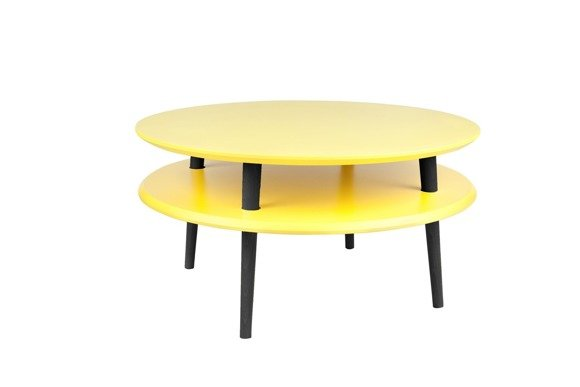 UFO low Coffee Table - yellow/black legs
