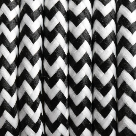 WANDA Floor Lamp 45x140cm - Black / White Lampshade / Zig-zag