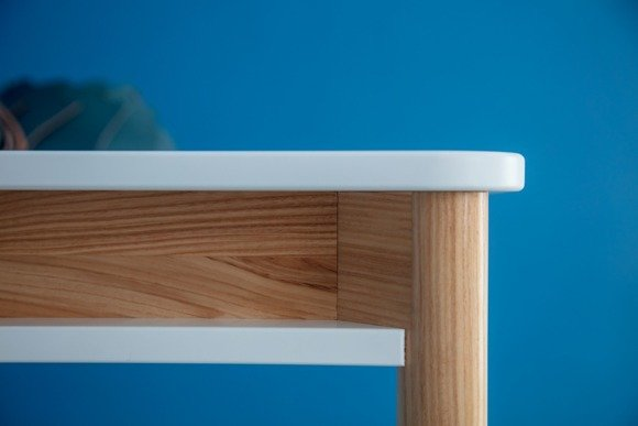 ZEEN Extendable Table with Shelf - navy