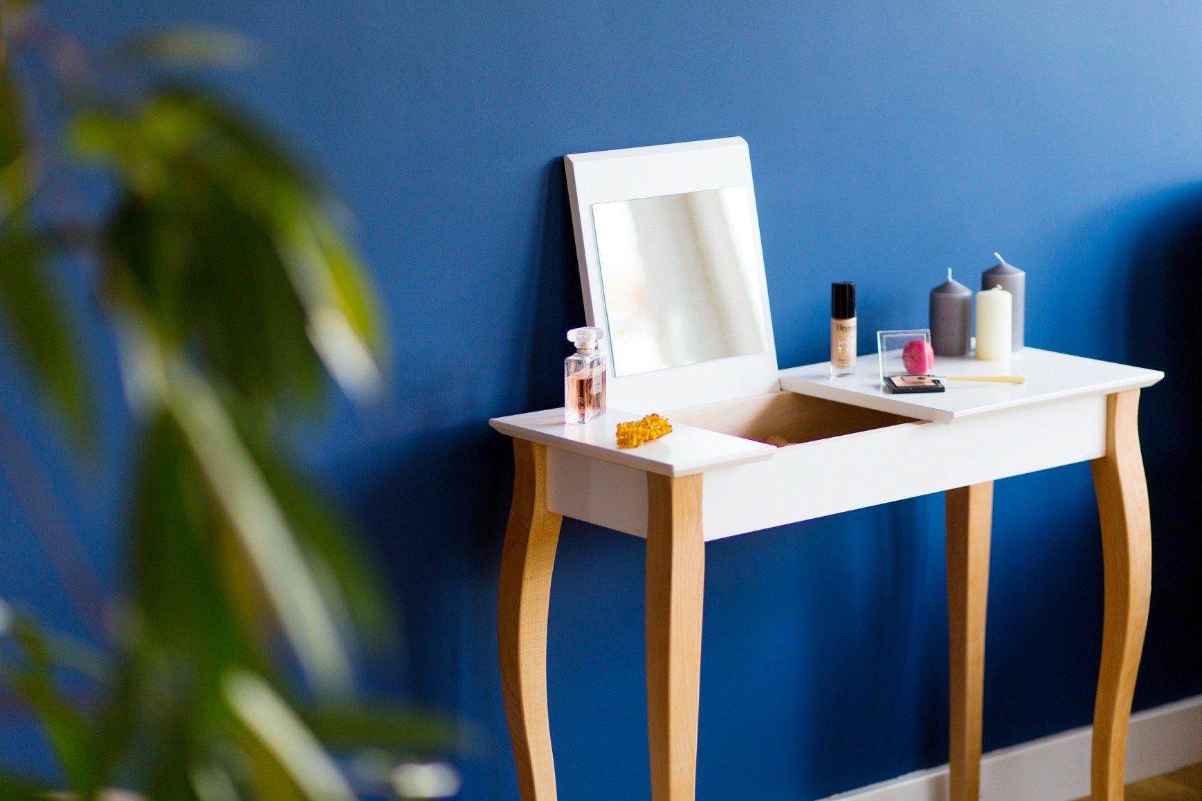 lillo large schminktisch mit spiegel flaschengr n flaschengr n m bel konsolentisch m bel. Black Bedroom Furniture Sets. Home Design Ideas