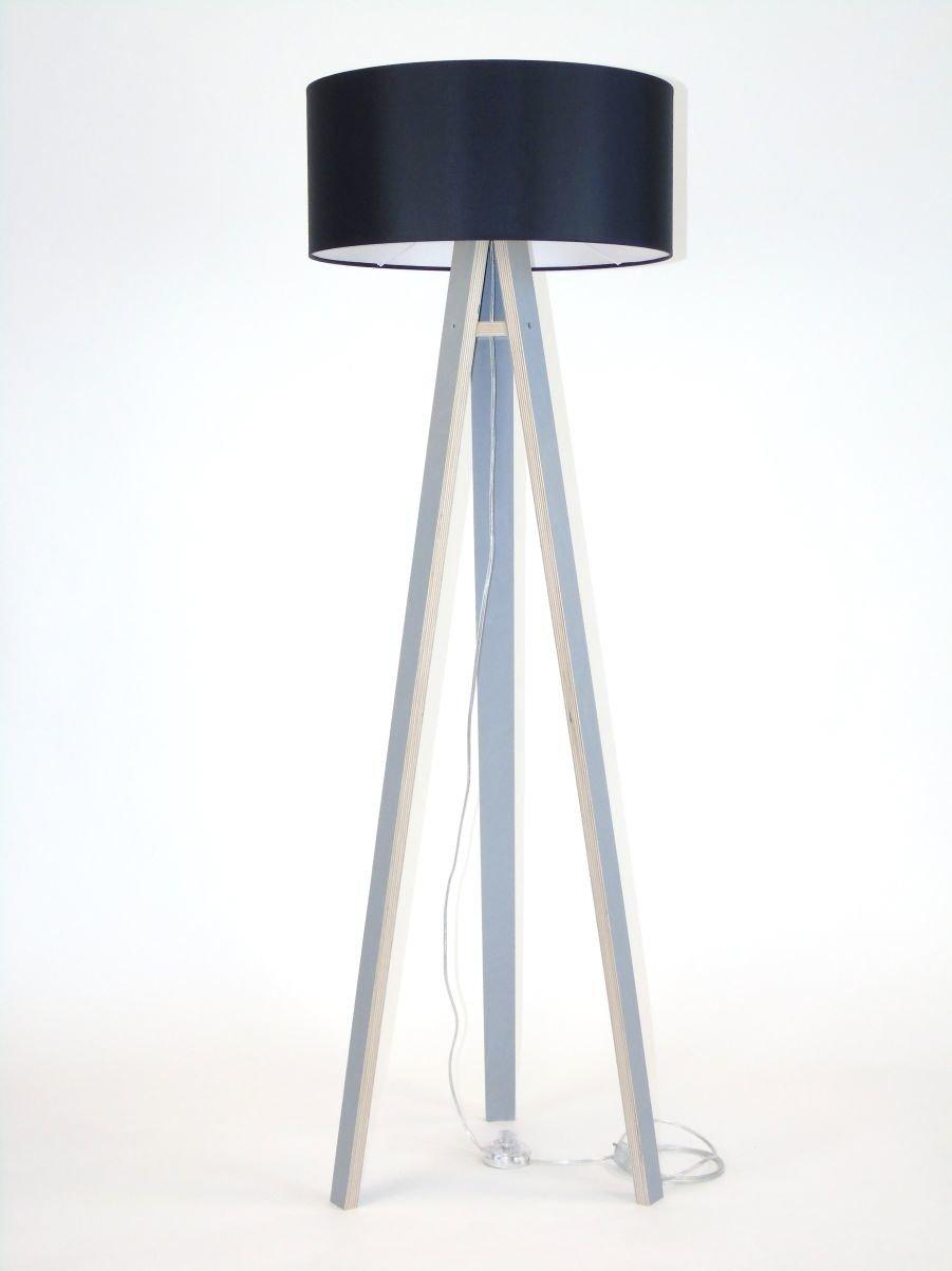 Wanda Stehlampe 45x140cm Grau Schwarz Lampenschirm Ragaba Pl