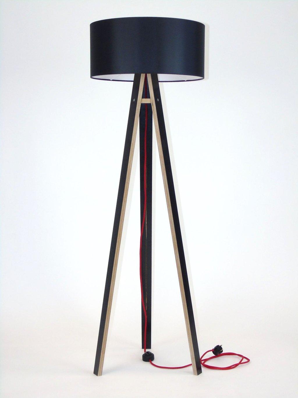 Wanda Stehlampe 45x140cm Schwarz Schwarz Lampenschirm Rot Ragaba Pl