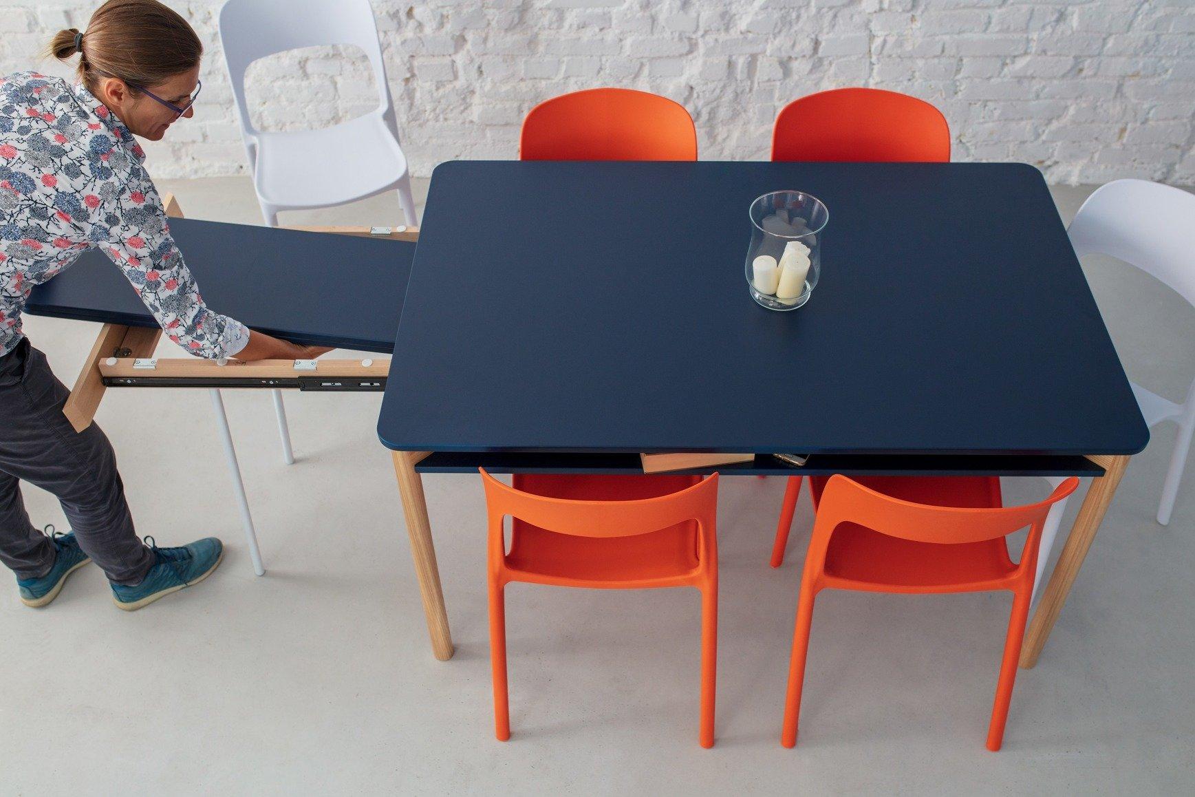 Zeen Ausziehbarer Tisch Mit Regal Weiss Ragaba Moderne Mobel
